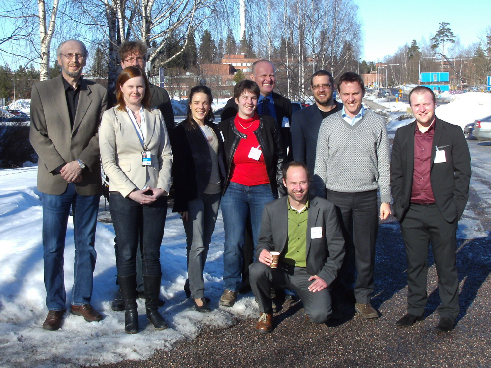 group photo (1st annual progress meeting, biofoambark, espoo, finland)